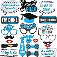 卒業写真ブース小道具 ブルー – 卒業デコレーション 2020 – 卒業パーティー用品 2020 | 写真ブース小道具 卒業パーティーデコレーション | 2020卒業写真小道具 ブルー&ゴールド