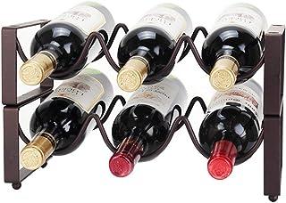 Organisation de rangement de cuisine Support de casier à vin empilable en fer à 2 niveaux avec support de rangement Organi...