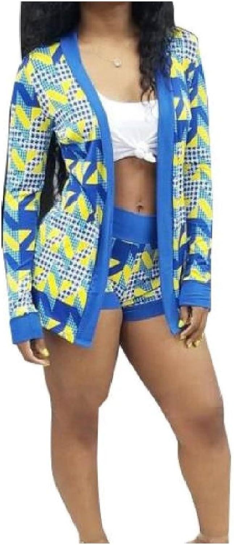 GodeyesWomen TwoPiece Work OL Geometric Printed Outwear Short Jumpsuit