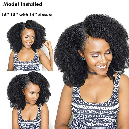 Mongolian Afro Kinky Curly Hair Weft Extensions 100gram 1 bundle 4B 4C Afro Kinky Curly Virgin Human Hair weave Natural Black For African American Black Women 10'inch