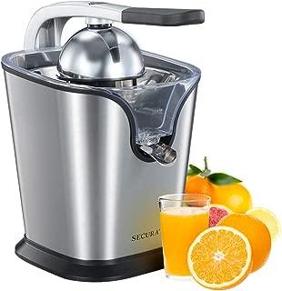 Secura Upgrade Electric Citrus Juicer Press | 160-Watt Stainless Steel Orange Juice Squeezer