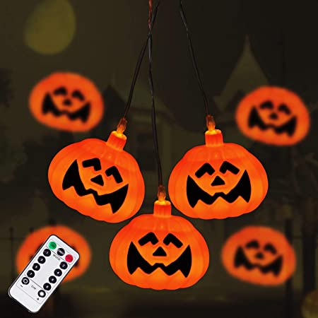 Details about  /LED Halloween Pumpkin Skull Spiders String Fairy Lights Party Decor Hanging Prop