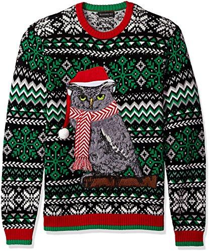 Blizzard Bay Men's Ugly Christmas Sweater Animals, Dark Green, XX-Large