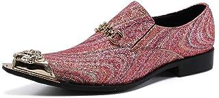 Chaussures en cuir pointues pour hommes,Chaussures d'uniformes habillées homme à motif crocodile en cuir véritable,Chaussu...