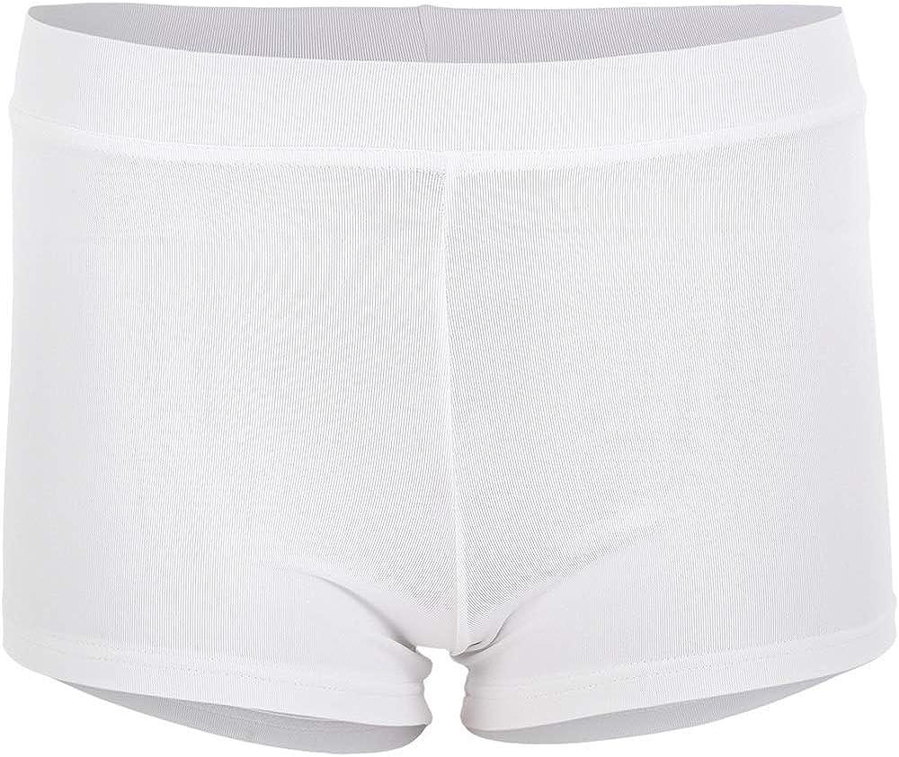 DanceNwear Little Girls Prowear Boy-Cut Short White