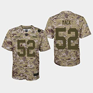 Nike Khalil Mack Oakland Raiders NFL Youth Salute to Service Camo On-Field Game Day Jersey