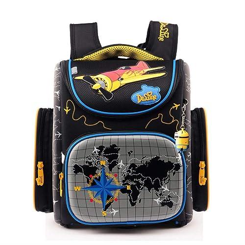 KHDJH Kinderrucksack Prim  Größe 3D Cartoon Schule Taschen Kinder Orthop sche Ergonomisches Design Schule Rucksack Jungen Schule Taschen Q Q