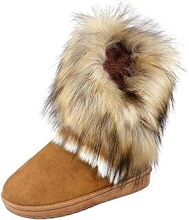 gr.34-43 Stiefeletten Rund Zehe Kurz Stiefel Keilabsatz Damen Schuhe Boots