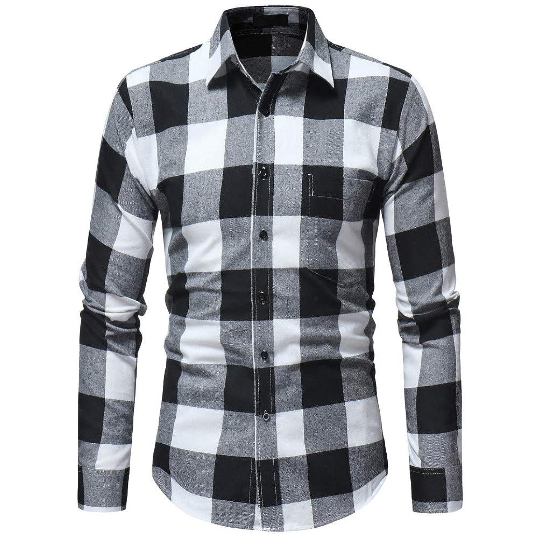 メンズ シャツ Yochyan_Men ブラウス トップス ロングスリーブ 長袖 ポリエステル スリム プロット ボタン プリント プレゼント ファッション おしゃれ Tシャツ 快適 日常用 上着 カジュアル シンプル ティーシャツ