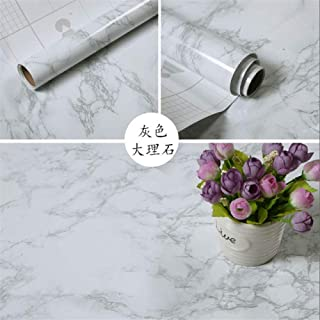 LZYMLG Self Adhesive Marble Wallpaper Waterproof and Oil Proof Vinyl Wallpaper for Kitchen, Table, Hearth, Cabinet and Industrial Decor D 60cm1m