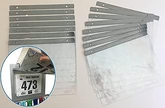 15 Sheet Pack - Clear Vinyl Bib Holder Sleeves for RunFix Medal Displays and Hangers