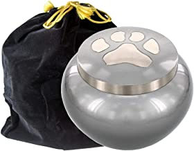 Trupoint Memorials Brown Large Round Pet Urn for Dogs Ashes – A Loving Resting Place for Your Special Dog or Cat – for Large Pets up to 70 Pounds