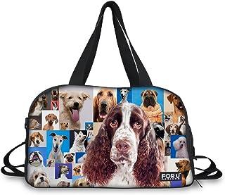 FOR U DESIGNS Women's Cute Border Collie Canvas Travel Duffel Bag Handbag Forady Large cute 4