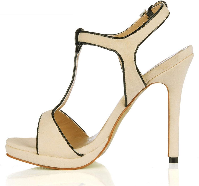 12 cm Thin Heels shoes Woman Sandalias T-Strap Sandals Crossdresser Sliver Pumps