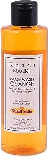Khadi Mauri Herbal and Ayurvedic Orange Face Wash, 210ml