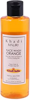 Khadi Herbal and Ayurvedic Orange Face Wash, 210ml