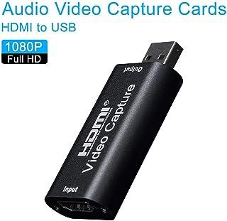 1080P 60FPS Capturadora de vídeo HDMI, USB 2.0 Tarjeta de Captura de Audio 1080P Portátil HD Video Grabador Dispositivo Video Live Grabación-1080P Video Capture Card
