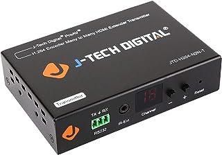 (Transmitter/Encoder) - J-Tech Digital ProAV HDMI Extender / H.264 Encoder and Decoder Over Ethernet Cat6 Extender Matrix ...