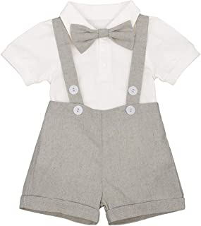 IBTOM CASTLE Baby Boys Formal 1st Birthday Dress Gentleman Outfits Wedding Suit Cake Smash Bowtie Baptism Clothes
