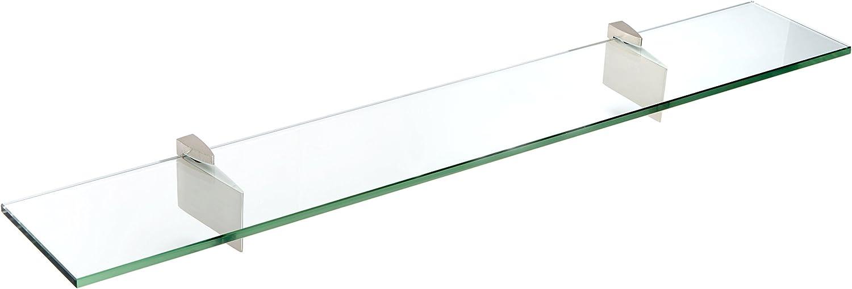 Spancraft Glass Raven Shelf Brushed 4.75 Manufacturer OFFicial shop OFFer Steel 21 x