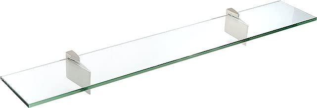 Spancraft Glass Raven Glass Shelf, Brushed Steel, 6 x 36