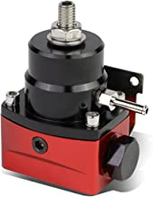 Universal Adjustable 0-100 PSI 6AN AN6 Injected Bypass Fuel Pressure Regulator Fitting End (Red/Black)