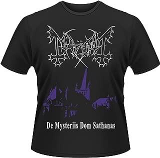 Mens T Shirt Black De Mysteriis Dom Sathanas Dark Night Church Official