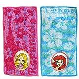 ポケットタオル ハンカチ 2枚セット 女の子 入学 入園ディズニー サンリオ RHH268 (NEWプリンセス)