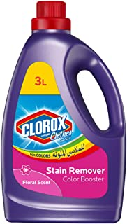 Clorox Clothes Floral Scented Liquid Colored Clothes Color Booster, 100% Stain Removal, 3L