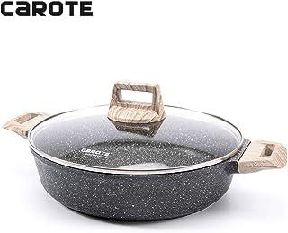 Carote 9.5 Inch/3 Quart Covered Braiser Granite Stone Non-Stick Coating From Switzerland