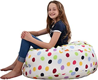 SMART WALLABY 2 Sizes in 1 Large Bean Bag Stuffed Animal Storage | XL Jumbo Ottoman for Soft Toys, Plush Toys | Giant Pouf Organizer for Linens, Quilts, Pillows | 300 L. / 80 Gal. | 42