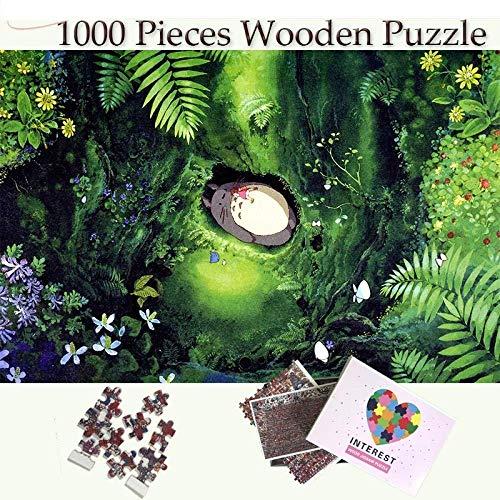 KUANGPP 1000 Piezas Rompecabezas Sleep Totoro s Puzzles