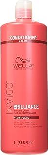 Wella Invigo Brilliance Conditioner for Coarse Hair By for Unisex - 33.8 Ounce Conditioner, 33.8 Ounce