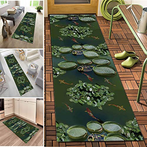 Carpet Runners For Hallways 3D Non Slip Washable Modern Long Area Rugs For Entrance Kitchen Hall Corridor Stair Carpet Floor Mats,Crystal Velvet Fabric,7mm Thick,Length Can Be Customized(Size:1.2×2m)
