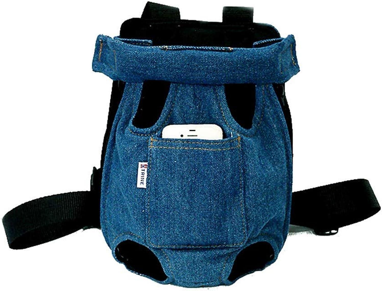 Petzhu Cat Bag Cat Backpack Out Carring Bag Pet Teddy Bear Dog Chest Backpack, L