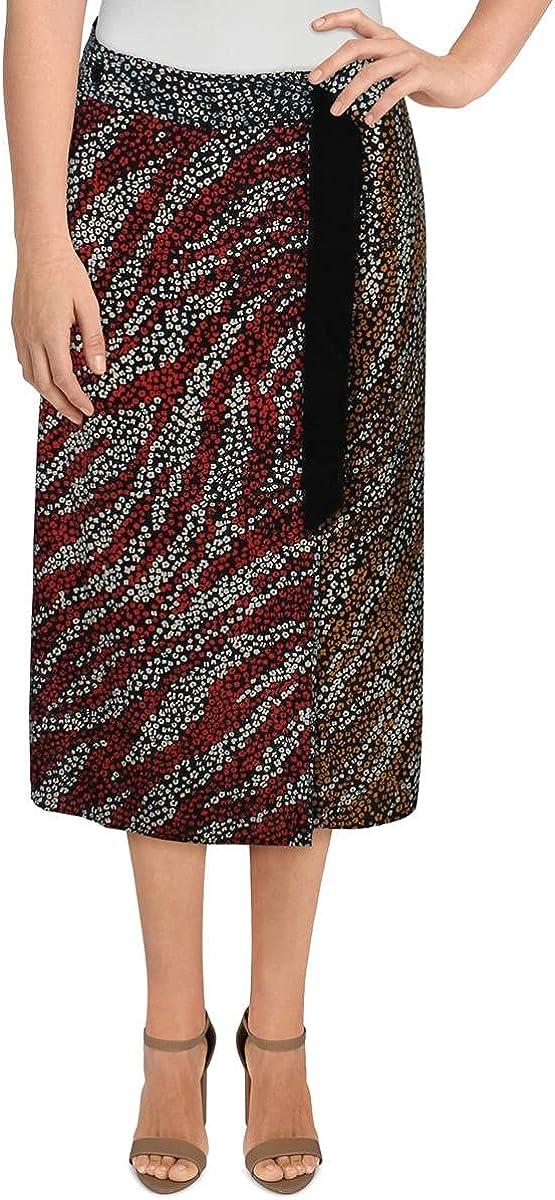 rag & bone Womens Colette Silk Floral Wrap Skirt