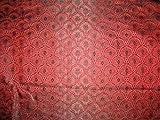 Viskose-Seiden-Brokat-Stoff, indisches Rot, 111,8 cm,