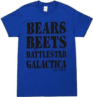 تي شيرت للبالغين مطبوع عليه The Office NBC TV Series Bears Beets Battlestar Galactica