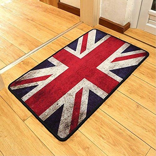 DSJ tapijtmatten Engeland retro matten, voor de oude hoofdingangang in de deur-anti-slip pad te tun,60 * 90 cm