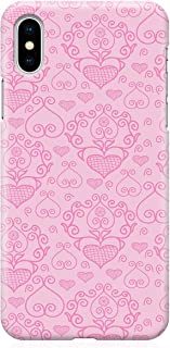 Loud Universe Case for iPhone XS Wrap around Edges Valentines Day Couples Love Heart Pattern Sleek Design Heavy Duty Rugge...