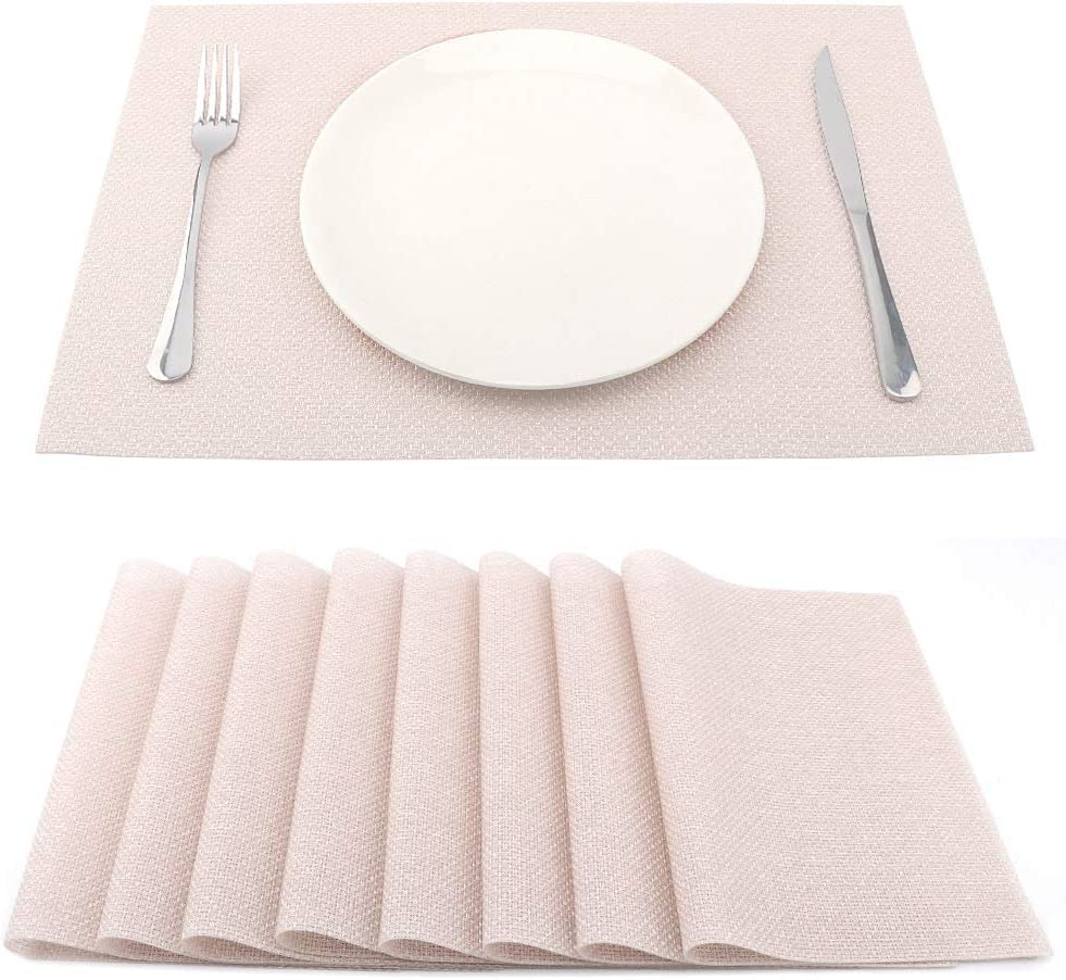 SUEH DESIGN Placemats for Dining Heat-Resistant 18