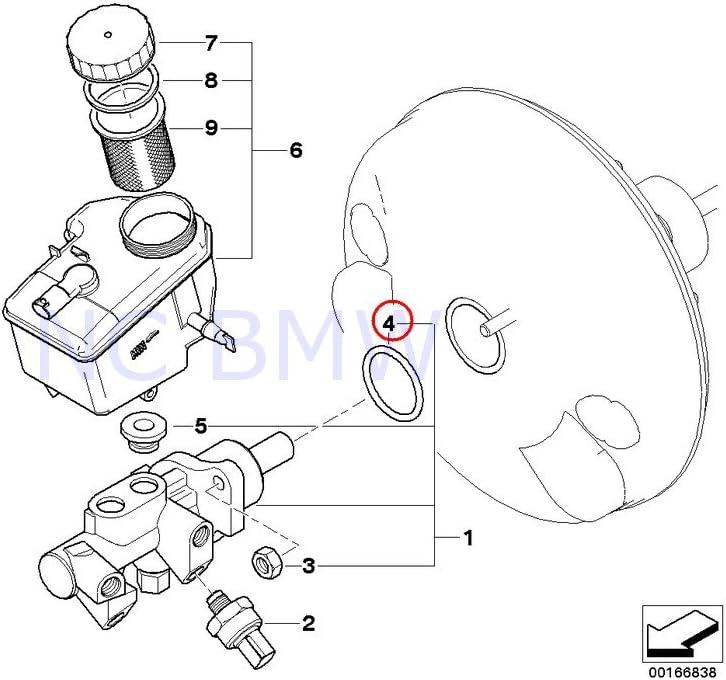 BMW Genuine Brake Max 50% OFF Ranking TOP5 O-Ring Master Cylinder
