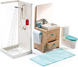 Dollhouse Furniture Vintage Bathroom Toilet Miniature Toys Dolls Accesso WDC