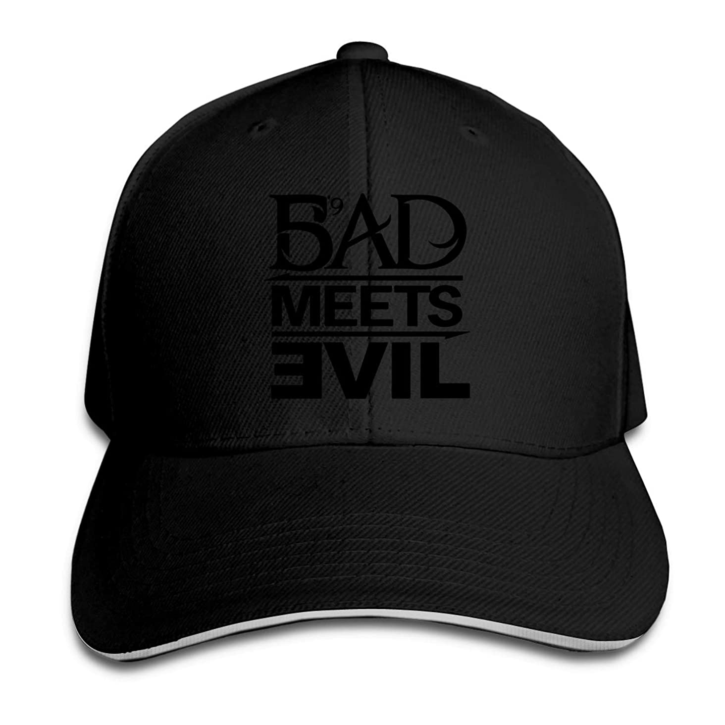 Men's and Women's Classic Bad Meets Evil Peaked Hat Cotton Golf Cap for Mens and Womens