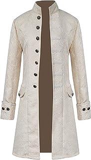 سترات رجالية من AIEOE مطبوع عليها Steampunk ملابس تنكرية ذات أكمام طويلة من العصور الوسطى