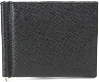 プラダ PRADA 二つ折り 財布 マネークリップ 札入れ サフィアーノレザー ブラック 2MN077 【中古】 90079115