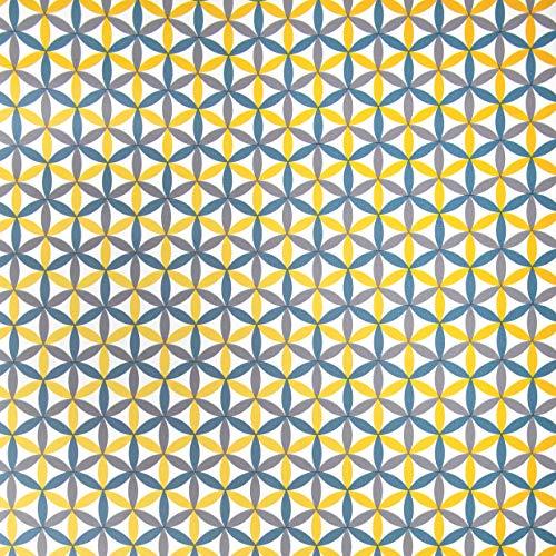 Venilia plakfolie Charleston motief, decofolie, meubelfolie, behang, zelfklevende folie, PVC, zonder ftalaten, kleurrijk, 160μm (dikte: 0,16 mm), 54920, 45 cm x 2 m