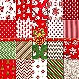 60 Stücke Weihnachten Baumwoll Stoff 5,91 x 5,91 Zoll