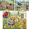 """Bits and Pieces - Value Set of Three (3) 300 Piece Jigsaw Puzzles for Adults by Artist Kay Lamb Shannon - Each Puzzle Measures 18"""" x 24"""" - Country Quilt Sale, Adopt A Puppy Today, Family Picnic from Melville Direct"""
