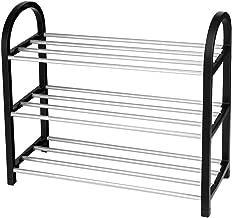 Organizzatore per Strumenti Artigianali e Scarpe Fino a Taglia 41 Set di 12 Contenitore Portaoggetti Impilabile per Scarpe SONGMICS Scatole per Scarpe con Coperchio Nero Trasparente LSP12BK